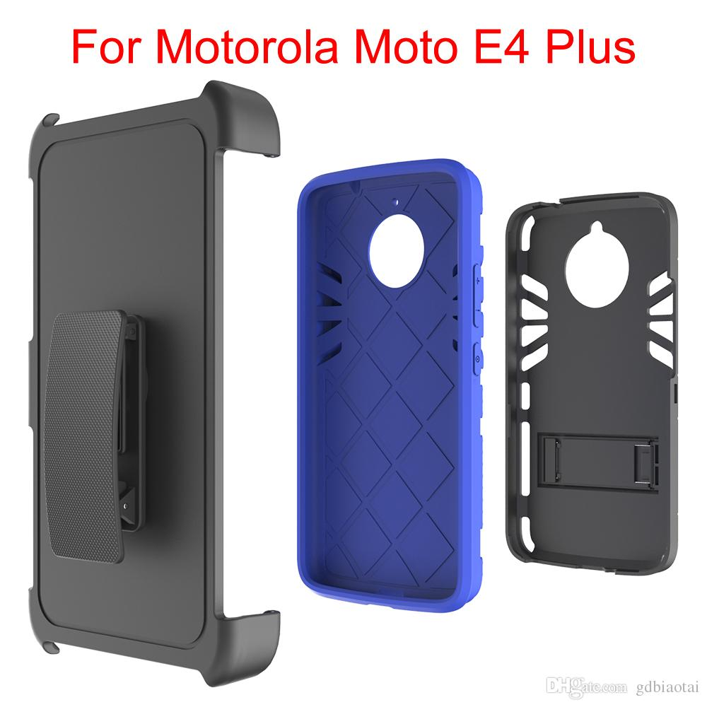 Hot sale Colorful 3 in 1 Case Super Combo Heavy Duty With Clip Shockproof Cell Phone Case With Card Slot For Motorola Moto E4 Plus