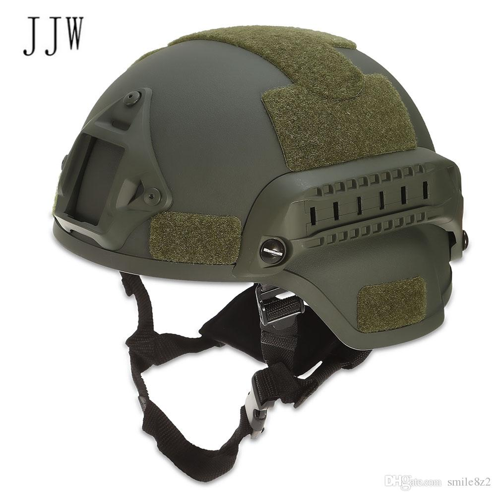 e8a74d47ee7 2019 JJW Tactical Helmet Gear Paintball Head Protector With Night Vision  Sport Camera Mount Helmets Bike Cycling VB From Smile8z2