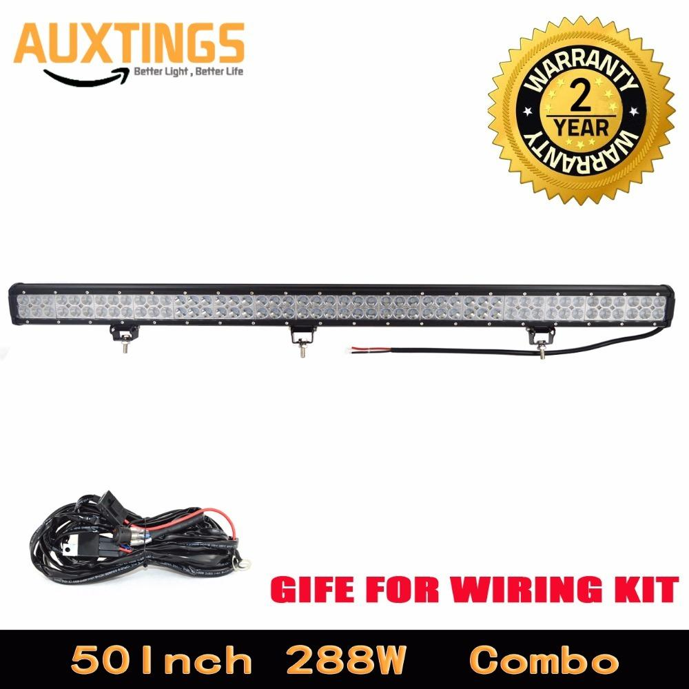 Usa de dual rows 50inch 288w led light bar combo offroad led usa de dual rows 50inch 288w led light bar combo offroad led driving lights ip67 car led light bar with wiring working lamps working led lights from johnnda mozeypictures Images