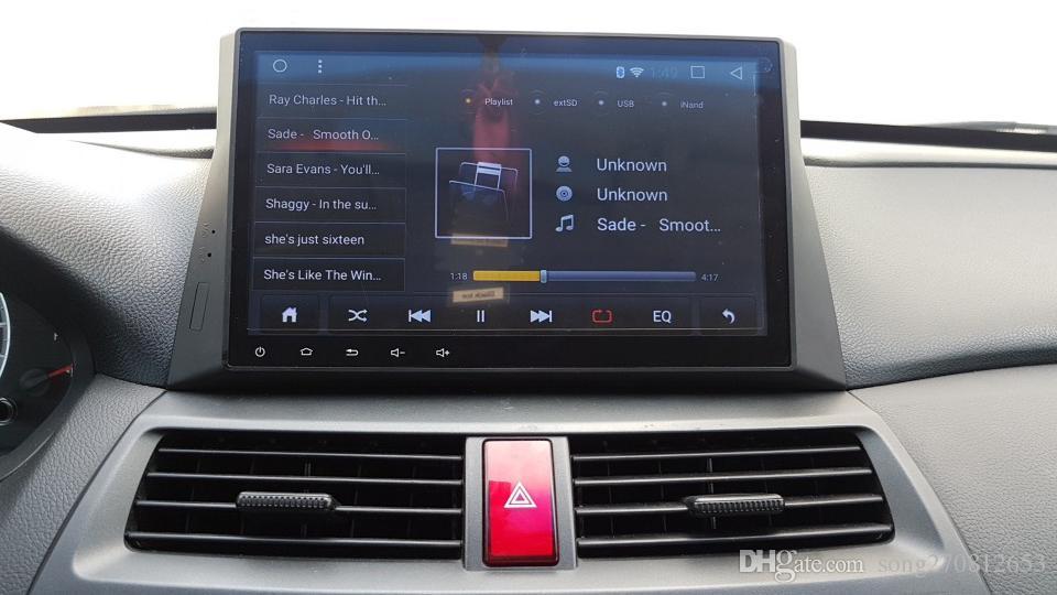 شاشة HD رباعية النوى Android Car DVD GPS لـ 08 Honda Accord 2008 2009 2010 2011 2012 2013 2014