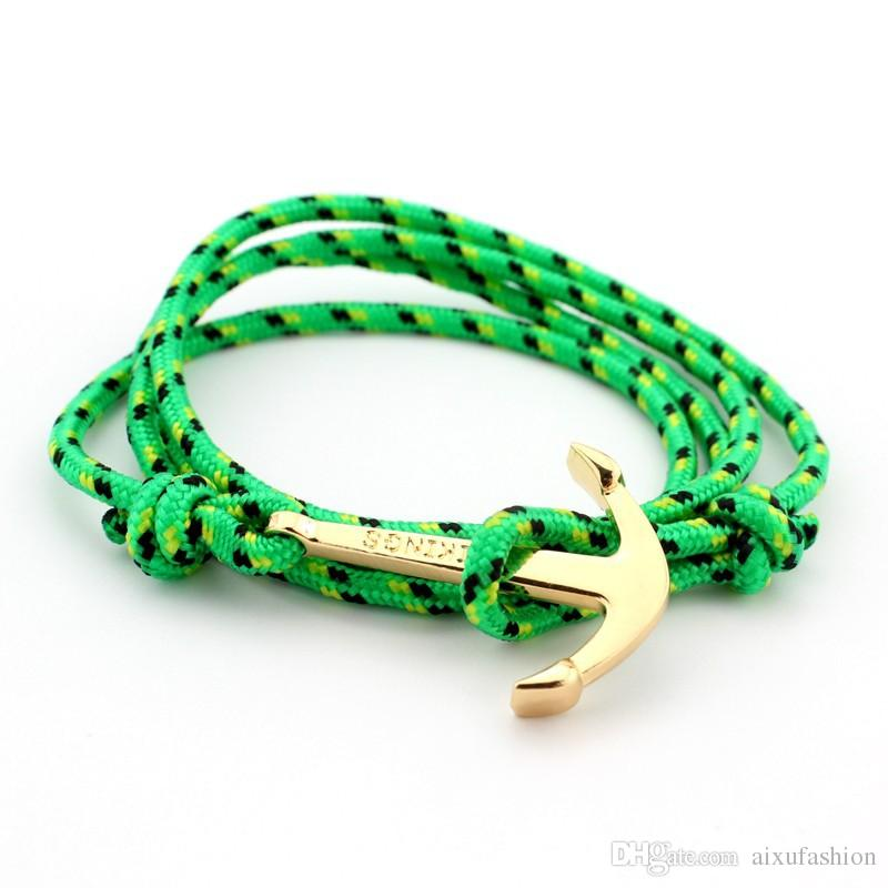 2017 Anchor Weave Bracelets Infinity Women Men Bracelet Wrap Rope Charm Fish Hook With Paracord Bangle Fashion Jewelry Best Selling