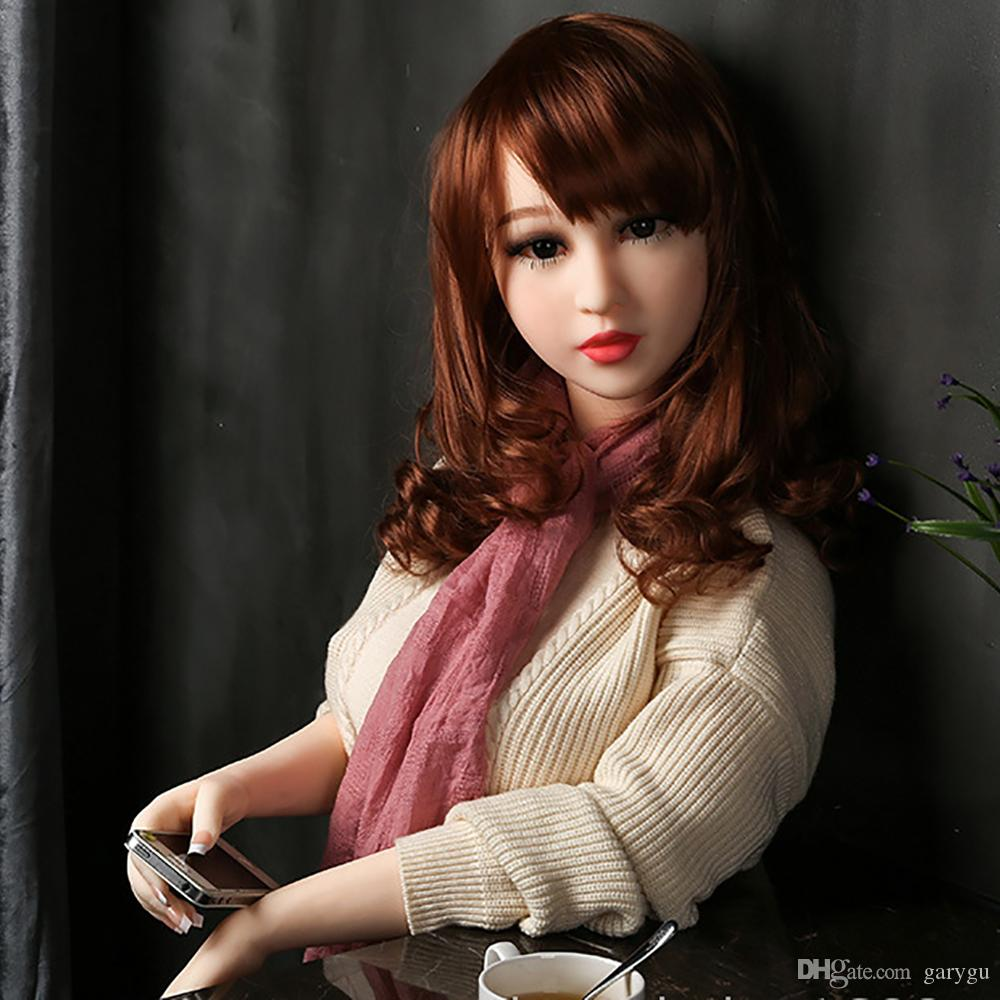 New Sex Doll Real 140cm Vagina For Men Skeleton Flat Vhest Asian Head Tan Skin TPE Sexy Love Silicone Dolls Wmdoll