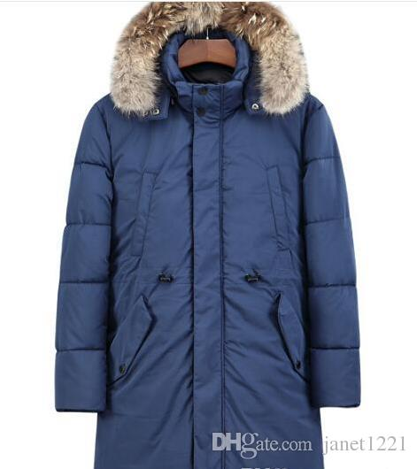 Thick Men Warm Down Plus Size Long Style Cool Hooded Parkas For Men Casual Winter Trench Men Overcoat T170910