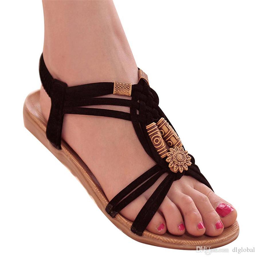 99530a1cd Compre Zapatos De Mujer Sandalias Confort Sandalias Chanclas De Verano  Sandalias Planas De Moda Sandalia De Gladiador A  18.68 Del Dlglobal