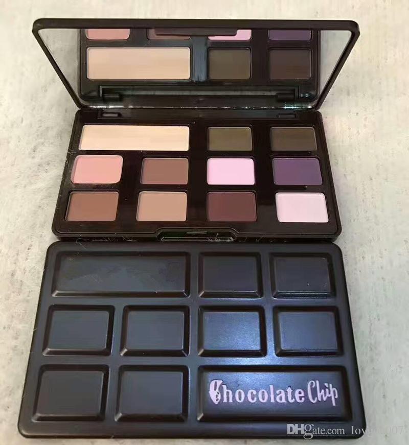 Nouveau Chocolate Chip Eye Shadow 11 couleurs Maquillage Professionnel Fard À Paupières Palette Blanc et Mat Maquillage Fard À Paupières Livraison DHL