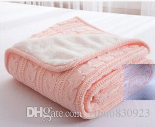 2017 New arrival Super Soft knitted Blanket wool Cotton Breathable Warm Solid Throw Blanker For Bed/Sofa/Air