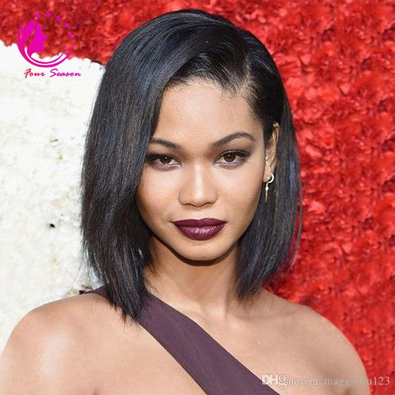 Light italian yaki bob wig virgin hair brazilian u part wig bob human hair short bob upart wigs for african american women