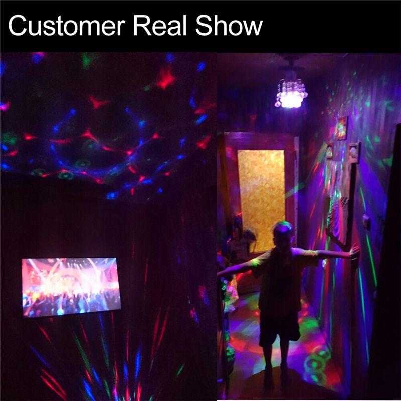 Laser lights E27 3W AC90-250V Colorful Auto Rotating RGB LED Bulb Stage Light Disco DJ Party Lamp Holiday Bulb For Bar KTV Lighting