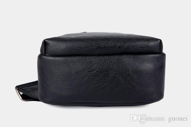 Pequeno Monstro PU Planície Mochila Simples Peito Saco de viagem único ombro Dos Desenhos Animados PU viagem jornada sacos de cintura pacote Unisex útil bagpack