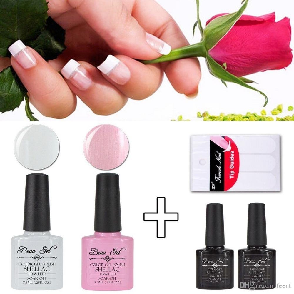 Wholesale Beau Gel French Nails Manicure Set Pink White Uv/Led Nail ...