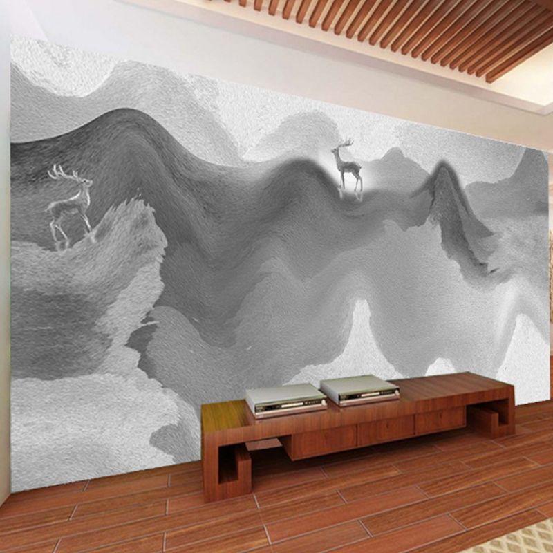 Custom Wallpaper large wall murals mountain and elk Stickers TV Walls bedroom living room Study Household Kitchen Waterproof