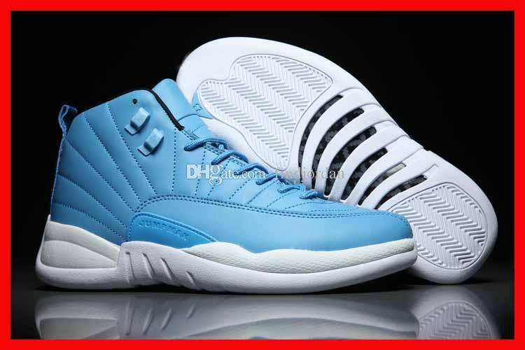 33d554be9ea2ff 2019 2018 New 12 Mens Basketball Premium White French Blue Wings Ovo  Dynamic Masters 12S Gs Men Sport Shoes High Quality Running Sneakers Online  From ...