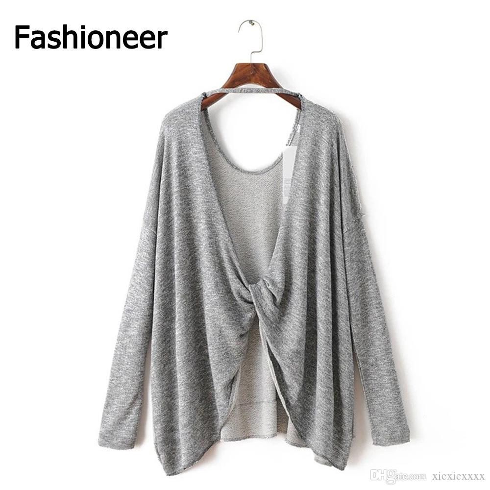 2018 Fashioneer Women'S Lightweight Knitted Coat Long Sleeve Open ...