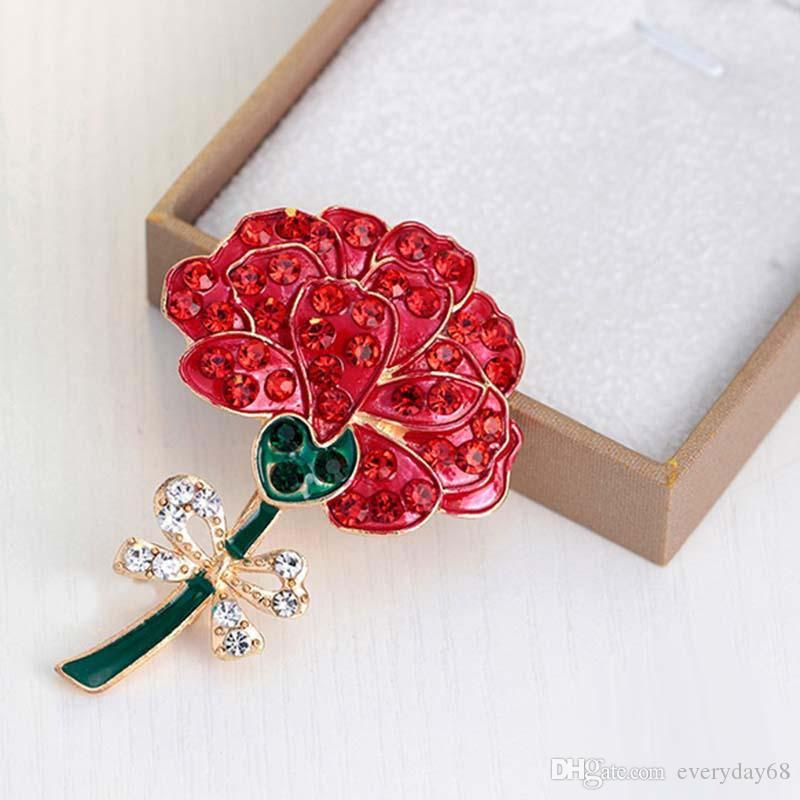 Wedding Red Poppy Flower Brooches Pins Fashion Jewelry Brooches Kate Princess Memorial Enamel Brooches for Women