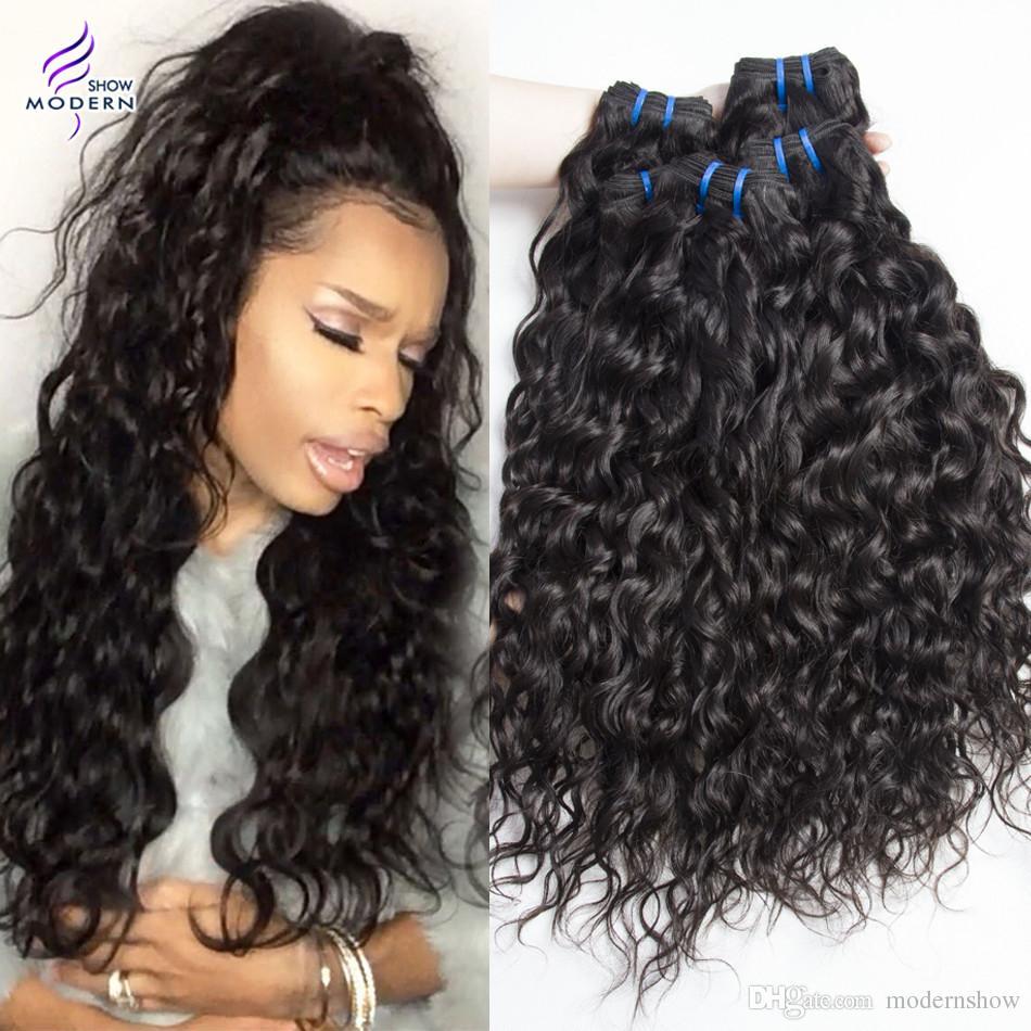 Haarverlängerungen Moderne Show Haar Malaysia Gerade Haarwebart Bundles #4 Farbe Remy Menschenhaar Spinnt Bundles Doppel Schuss 100g Haar Verlängerung