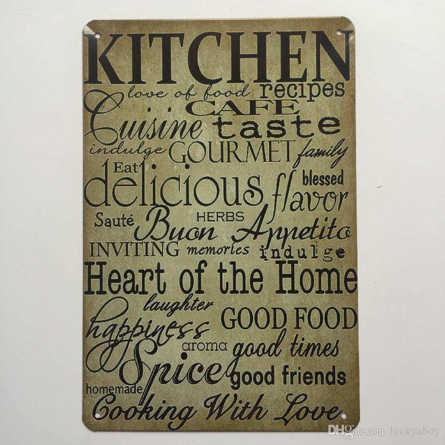 Kitchen Rules Sign: 2019 Kitchen Rules Vintage Sign Decorative Retro Metal
