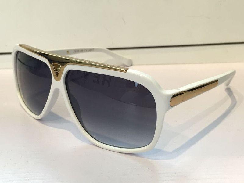 دليل فاخر المليونير النظارات الشمسية الرجعية خمر الرجال مصمم النظارات لامعة الذهب الصيف نمط الليزر شعار مطلية بالذهب Z0350W
