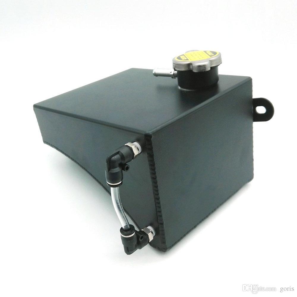 YENI Siyah Alüminyum Radyatör Soğutucu Taşma Tankı Araba Nissan 240SX S13 Için