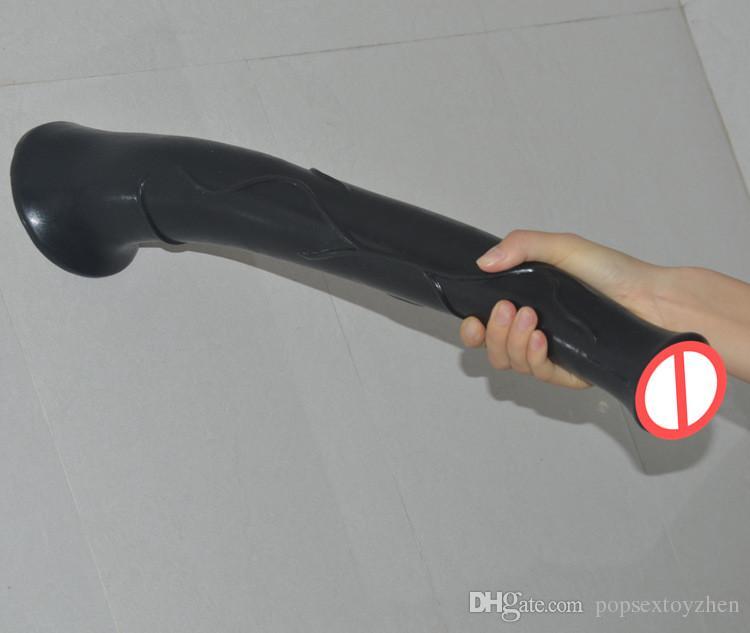 Gigante Enorme caballo Dildo Consoladores realistas Masturbador femenino Pene Anal Sexo erótico Caballo Gallo Juguetes sexuales grandes para mujeres