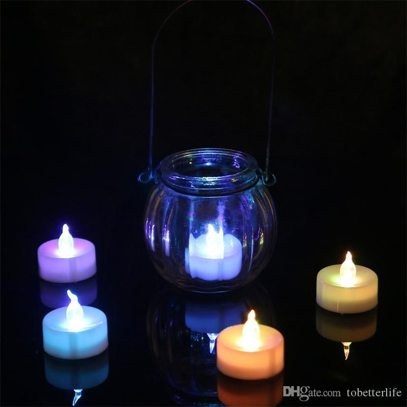 2019 Led Tealight Tea Candles Flameless Light Yellow Blue Red Warm