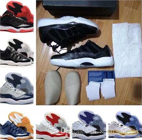 11s Low Bred Navy Gum Concord Barons White Red Basketball Shoes With Box Size  36 47 Top Quality Wholesale Price Cheap Basketball Shoes Boys Basketball  Shoes ... 317c849ea