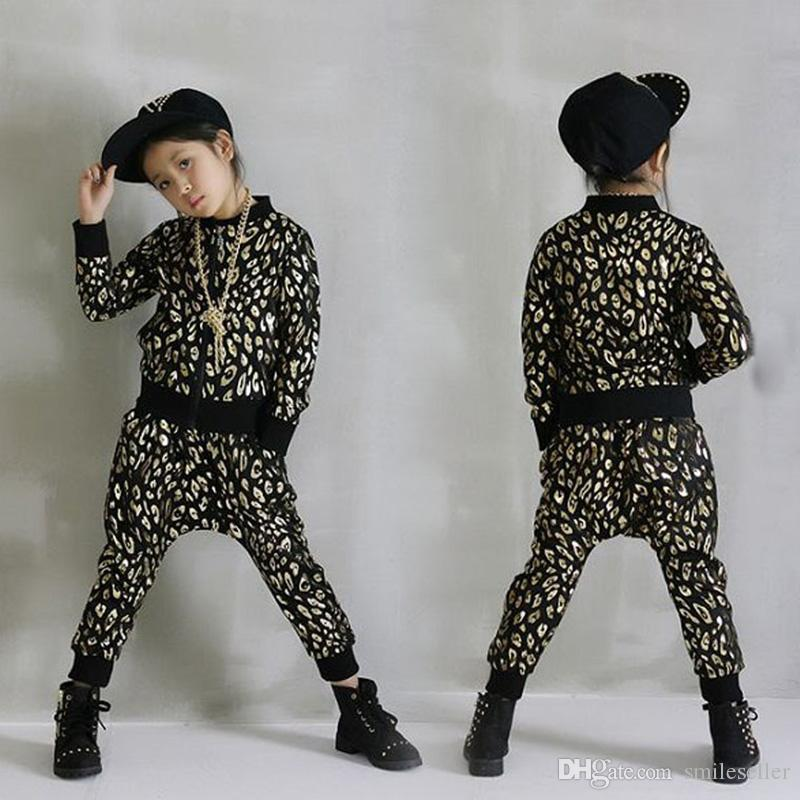 2017 popular kids hip hop dancewear jazz dance costume boys girls clothing set long sleeve top. Black Bedroom Furniture Sets. Home Design Ideas