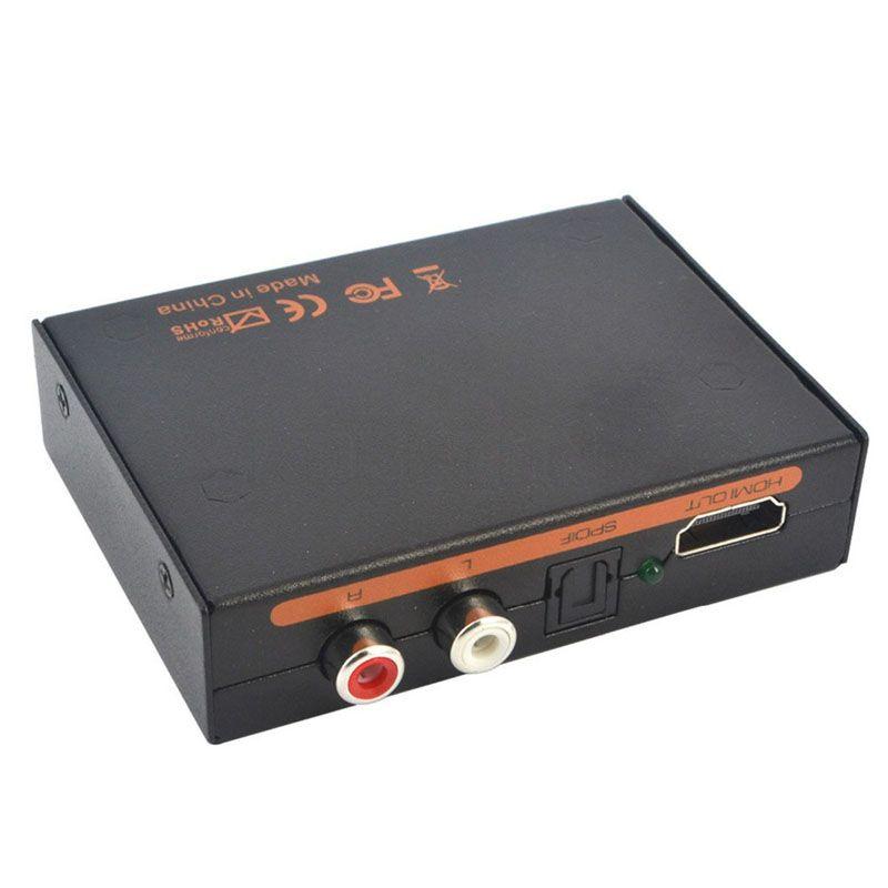 YENI 1080 P hdmi hdmi ses Optik SPDIF + RCA L / R Extractor Splitter Dönüştürücü Adaptör desteği 5.1CH LED göstergesi DC 5 V Güç