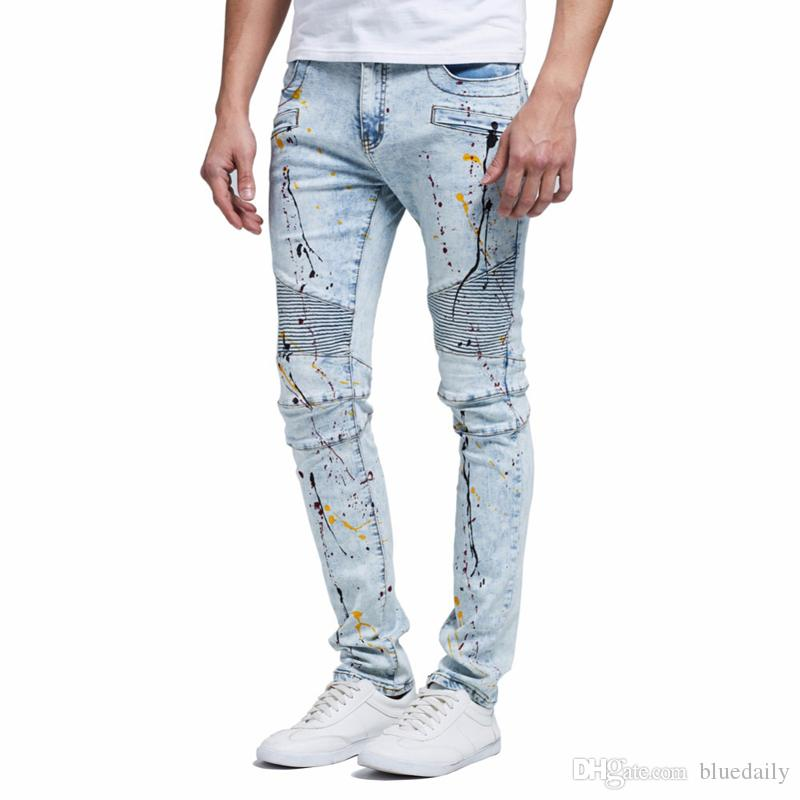 2019 Fashion Men Jeans Design New Biker Runway Hiphop Slim Jeans For Men  Cotton Good Quality Motorcycle Jeans From Bluedaily,  45.98   DHgate.Com b06dc45cc6