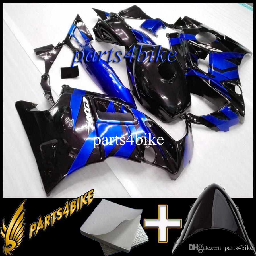 8Gifts black blue ABS Motorcycle Fairing for CBR600F2 91 92 93 94 Body Kit Motorcycle Fairing for Honda CBR600 CBR 600 F2 1991
