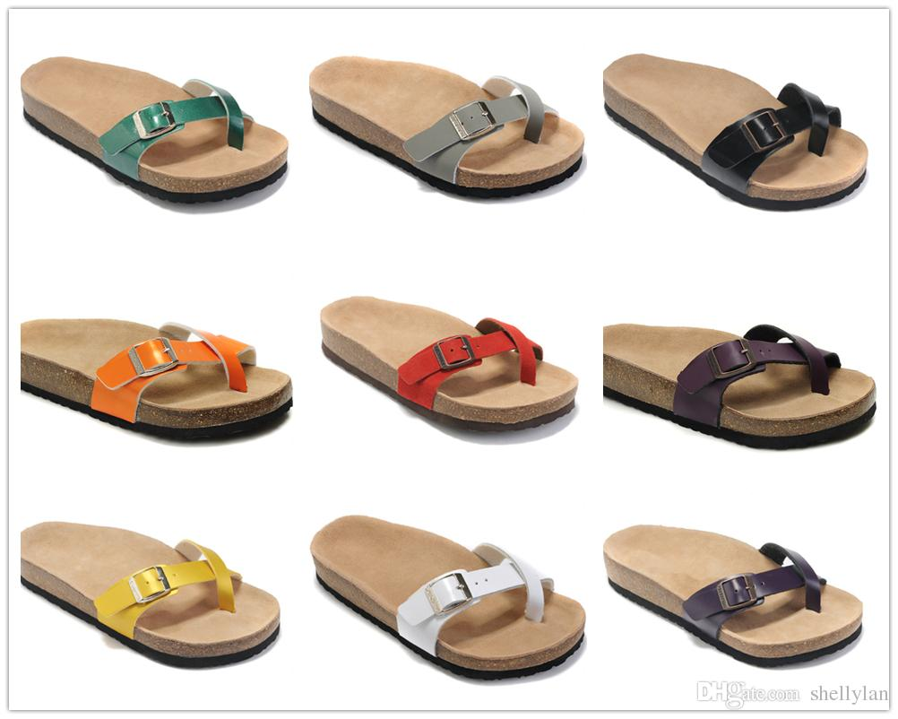 5c1ef121d New Famous Brand Arizona Women S Flat Heel Flip Flops X Style Sandals Summer  Classic Casual Ventilation Comfortable Genuine Leather Slippers Nude Wedges  ...
