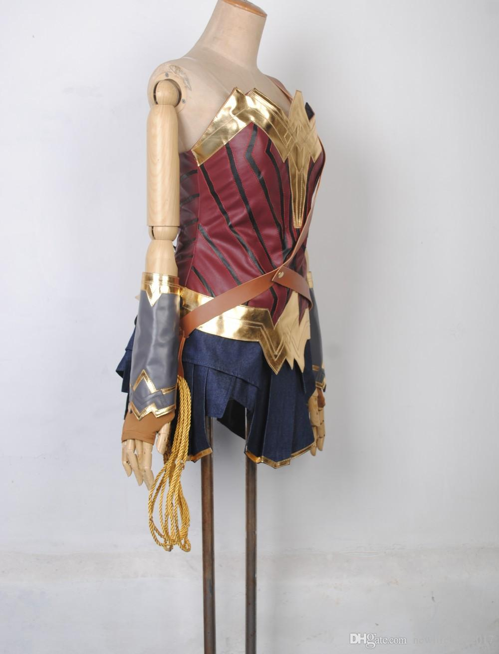 Movie Wonder Woman Costume Diana Princess Cosplay Costume for Adult and Kids