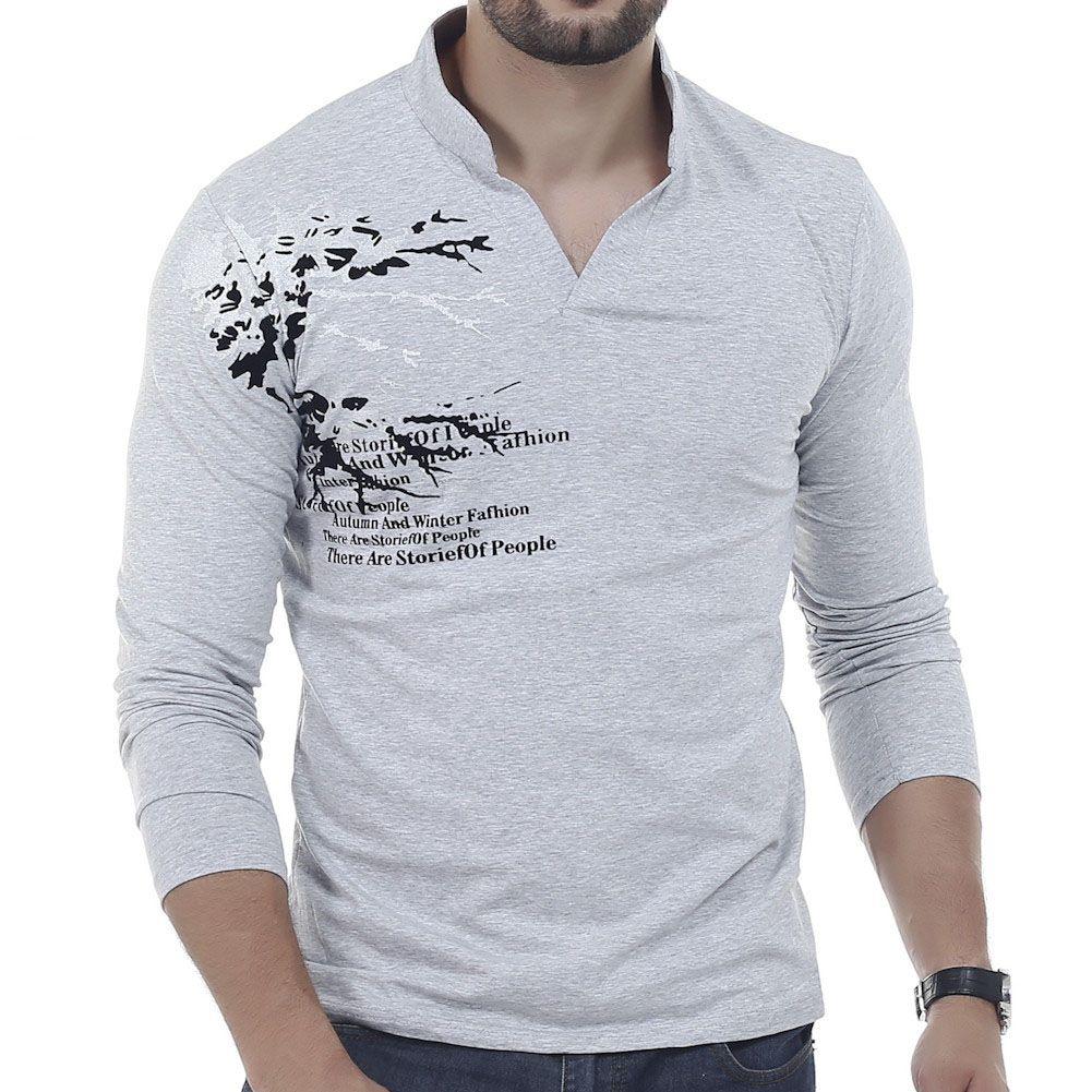 Printed T Shirts V Neck Joe Maloy