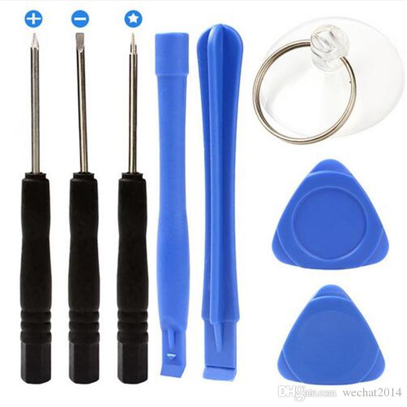 8 1 Outils de réparation ouverture Pry Set Kit avec 5 tournevis Torx Étoile Pentalobe pour iPhone 5 5s 6 Plus 7