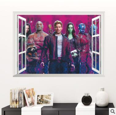 Guardians Of The Galaxy Wall Stickers For Kids Rooms Bar Cafe Decor 3d False Window Boys Bedroom Decor Mural Decal Painting Art 678 Wall Tree Decals For ...  sc 1 st  DHgate.com & Guardians Of The Galaxy Wall Stickers For Kids Rooms Bar Cafe Decor ...