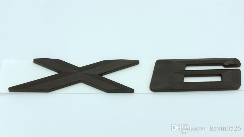 ABS Chrome / Noir X6 Lettres Nombre Tronc Arrière Emblème Autocollant Badge Autocollant pour BMW X6