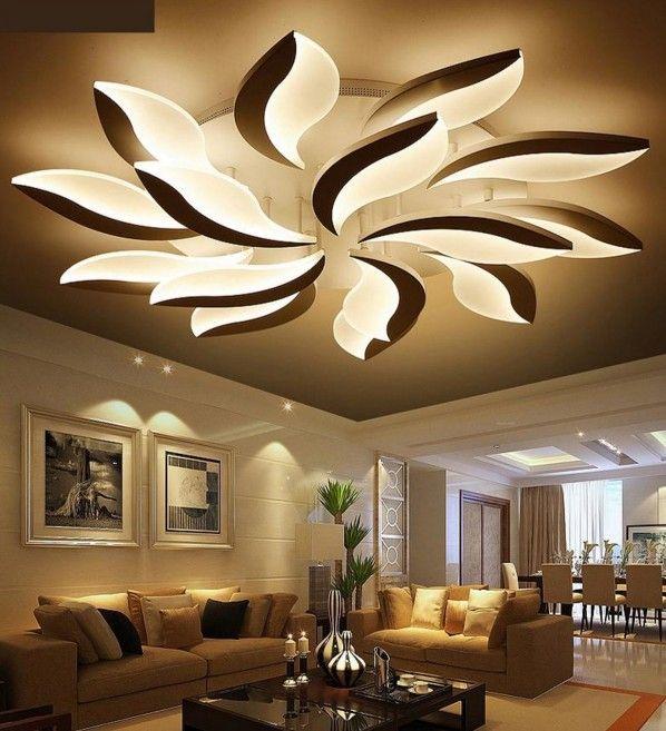 2019 Modern Led Ceiling Lights For Study Bedroom Indoor Home Lighting Creative Flower