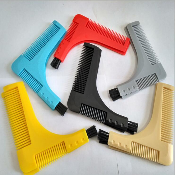 Groomarang Beard Symmetry Styling Shaping Template Template Peigner les outils de modélisation de barbe de cheveux du visage avec l'emballage en papier couleur