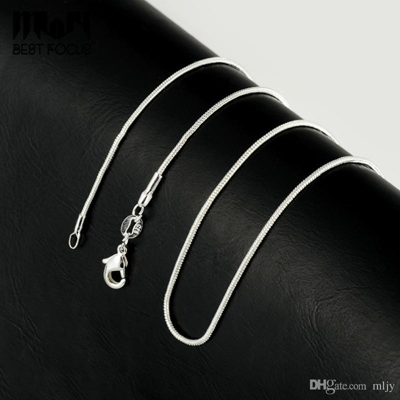 Promozione! collana d'argento all'ingrosso della collana del serpente di modo della collana dell'argento 925 Gioielli semplici 1,2 millimetri collane 16 18 20 22 24 pollici /