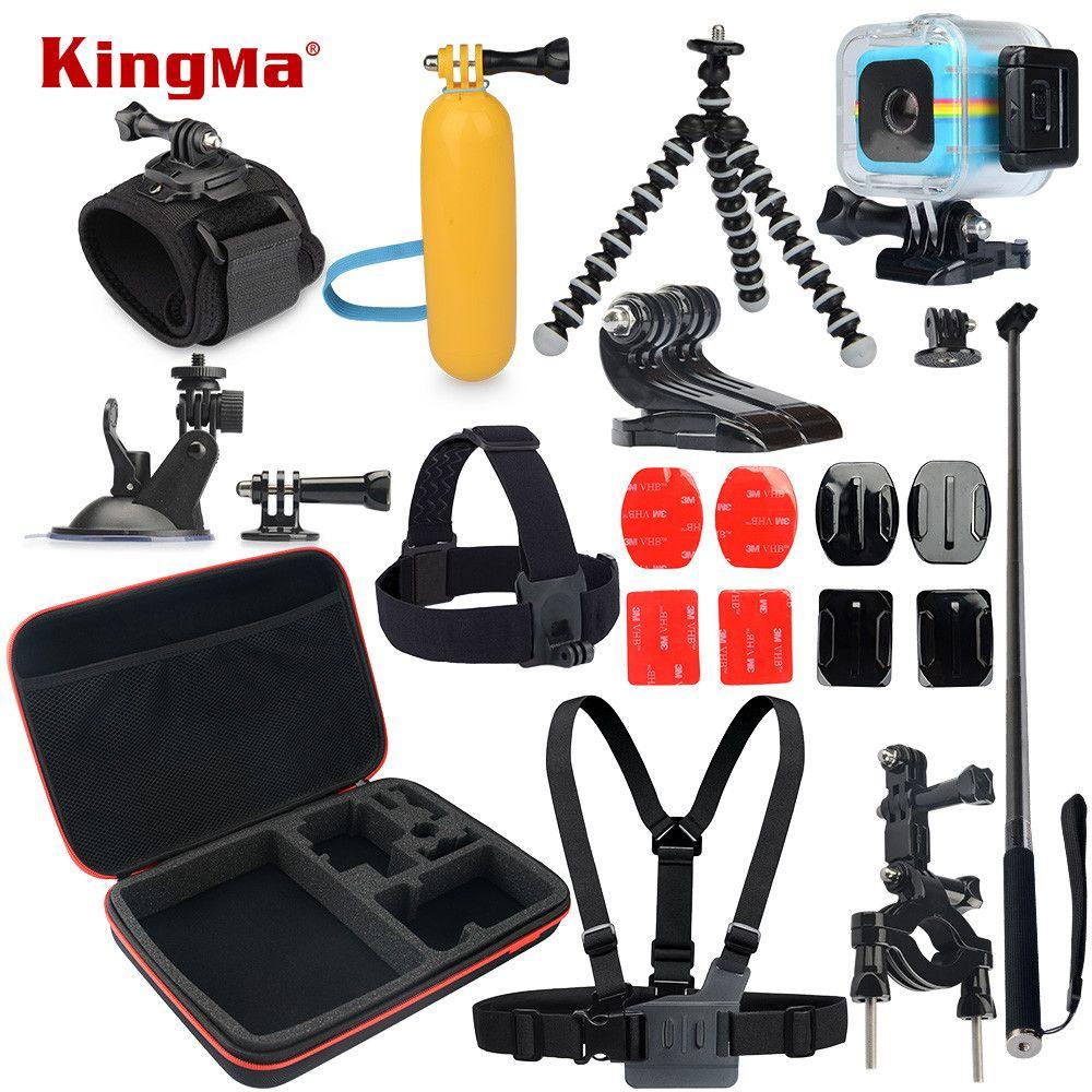 Wholesale Kingma For Polaroid Cube Waterproof Case 12 In 1 Action Camera Sport Kamera Xiaomi Yi Basic Edition International Original Accessories Kit And Accesorios Set