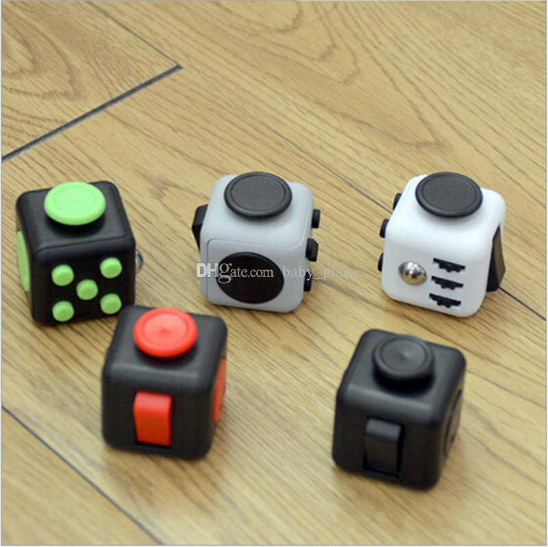 2017 hot sale 11 styles fidget cube toy christmas gift anxiety attention stress relief stocking stuffer decompression anxiety toys office stress relief