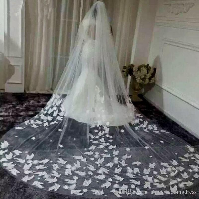 Extremamente Cogumelo Véu De Noiva Moda Casado Véu De Noiva 3 M Longo Traje  CK34
