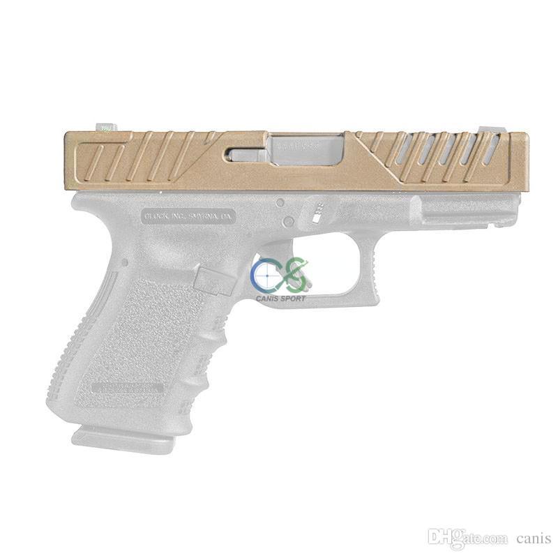 Nueva llegada caja de la pistola accesorios tácticos de la cubierta de la diapositiva de la piel táctica para G17 G19 envío gratis CL33-0213