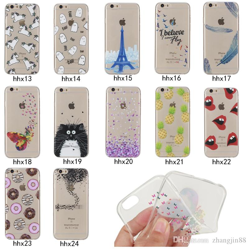 """For iPhone 6 6S 4.7"""" Transparent Soft Silicone Ultra Thin Case Cover Flexible Shockproof Phone Case"""