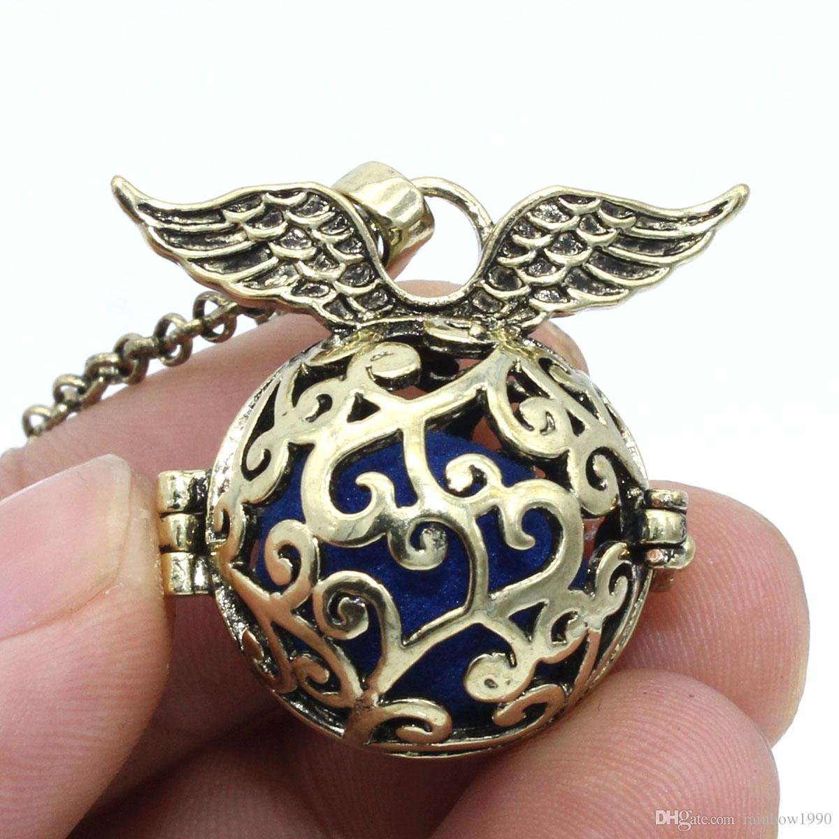 """Wholesale Antique Bronze Plant Leaf Box Locket Aromatherapy Fragrance Essential Oil Diffuser Openable Pendant 30"""" Chain Necklace Jewelry"""