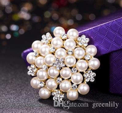 Fabricación de joyería Suministros Disco Perla Hallazgos de la joyería Componentes Exquisitos Multi-colores Aleación Rhinestone DIY Tocado Femenino Vintage