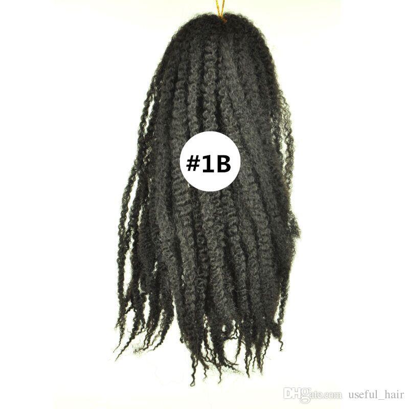 Atacado Marley Tranças Afro Curly Curly Extensões Sintéticas Afro Twist Curly Marley Trançado Cabelo Crochet Tranças Cabelo Tecer Bolote
