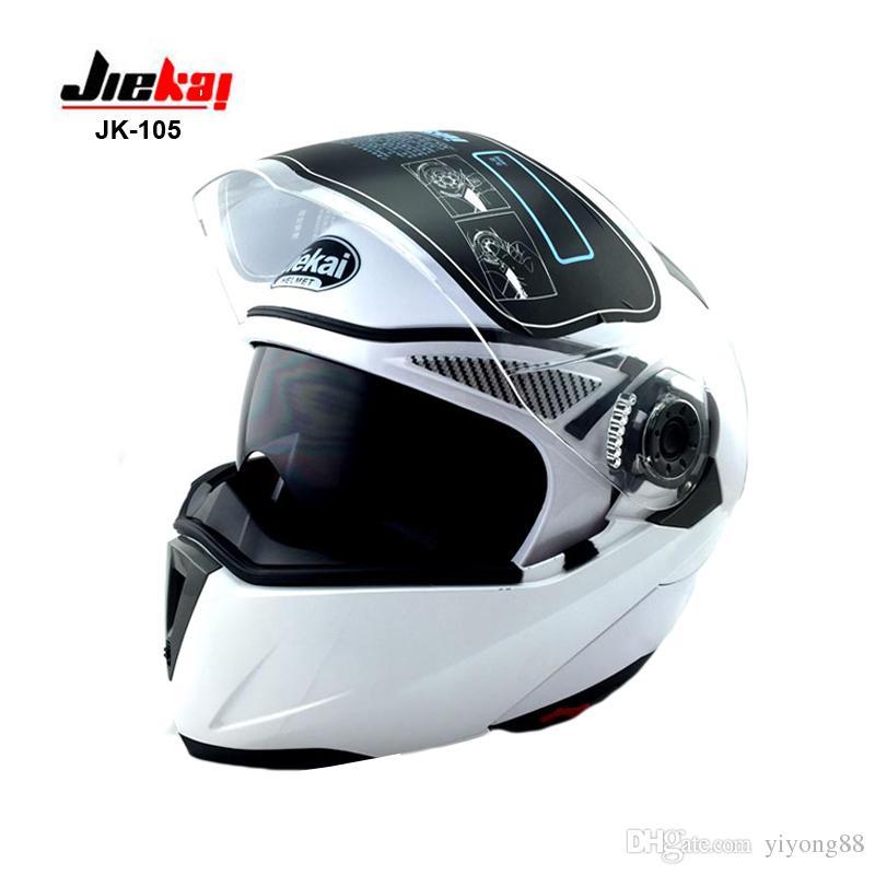 ccc74690cf8a0 Compre Casco De Moto Plegable Con Visera Interior Todos Asequibles Cascos  De Moto JIEKAI 150 NEGRO