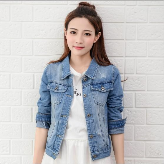Discount Fitted Denim Jacket Ladies | 2017 Fitted Denim Jacket ...