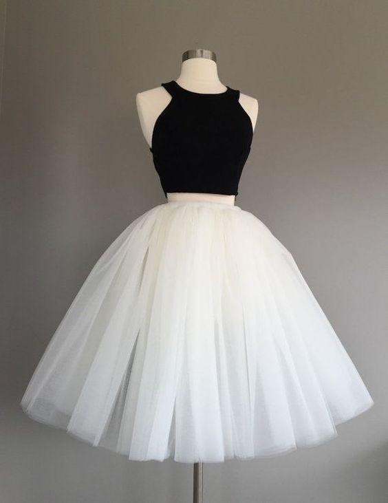 Cheap short white puffy dresses