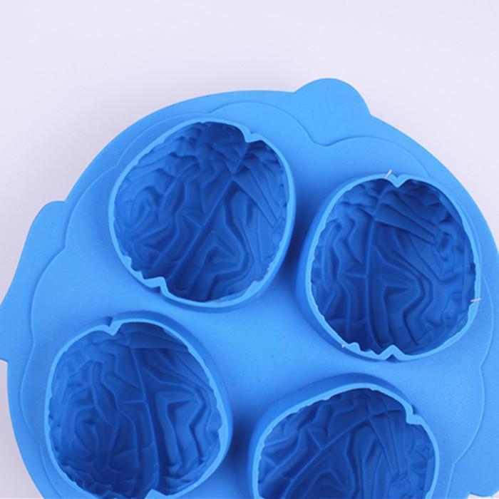 Livraison Gratuite Cerveau Glace 3D Moule Silicone Moule Gâteau Outils Cutter Glace Moules Crème Moule Outils de Cuisson Outils